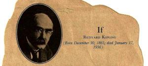 IF, by Rudyard Kipling.